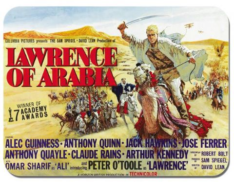Lawrence of Arabia Mouse Mat. Vintage Film Movie Poster High Quality Mouse Pad